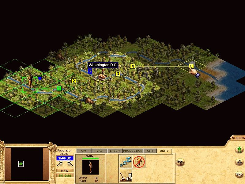 Pantallazo de Civilization: Call to Power para PC