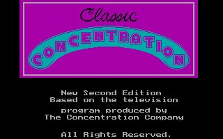 Pantallazo de Classic Concentration 2nd Edition para PC