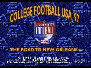 Pantallazo de College Football USA 97: The Road to New Orleans para Sega Megadrive