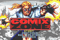 Pantallazo de Comix Zone para Game Boy Advance