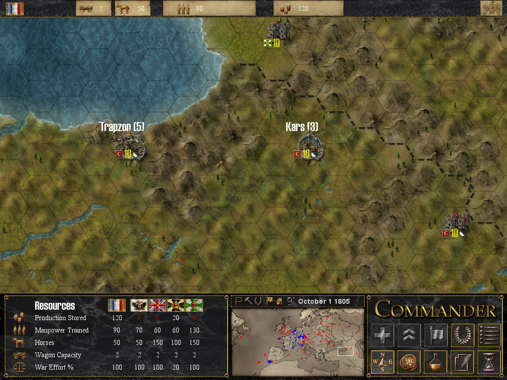 Pantallazo de Commander Napoleon at War para PC
