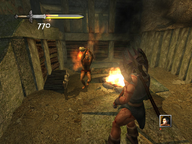 Pantallazo de Conan: The Dark Axe para GameCube