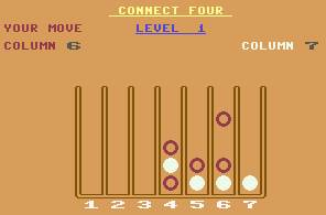 Pantallazo de Connect Four para Commodore 64