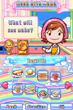 Pantallazo de Cooking Mama 2: Dinner with Friends para Nintendo DS