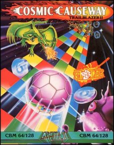 Caratula de Cosmic Causeway: Trailblazer II para Commodore 64