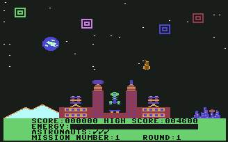 Pantallazo de Cosmic Tunnels para Commodore 64