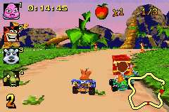 Pantallazo de Crash Bandicoot Bakusou Nitro Cart (Japonés) para Game Boy Advance