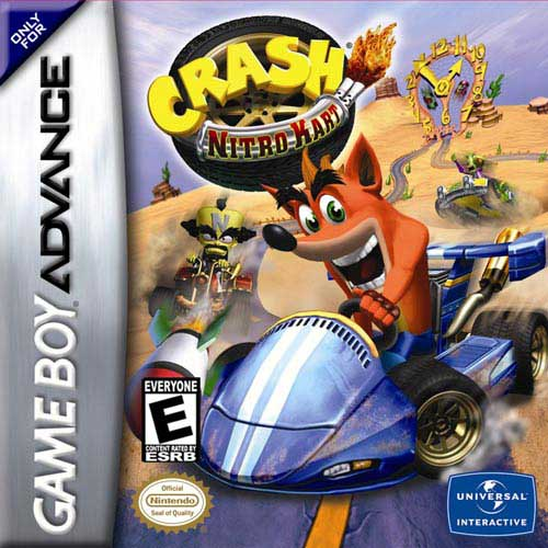Caratula de Crash Nitro Kart para Game Boy Advance
