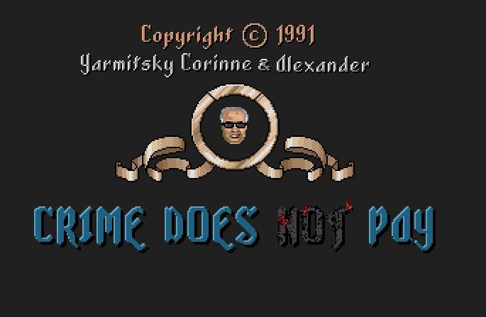 Pantallazo de Crime Does Not Pay para Atari ST