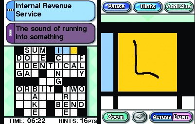 Pantallazo de Crosswords DS para Nintendo DS