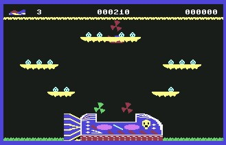 Pantallazo de Cuthbert in Space para Commodore 64
