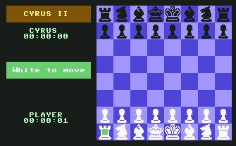 Pantallazo de Cyrus II Chess para Commodore 64