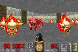 Pantallazo de DOOM II para Game Boy Advance