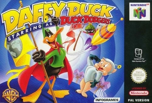 Caratula de Daffy Duck Starring As Duck Dodgers para Nintendo 64