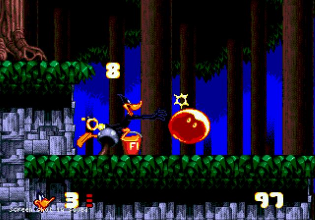Pantallazo de Daffy Duck in Hollywood para Sega Megadrive