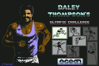 Pantallazo de Daley Thompson's Olympic Challenge para Commodore 64