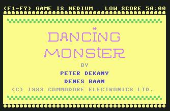 Pantallazo de Dancing Monster para Commodore 64