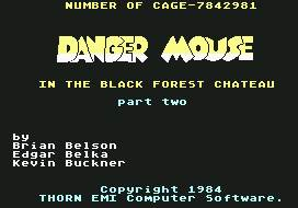 Pantallazo de Danger Mouse: In the Black Forest Chateau para Commodore 64