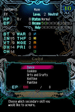 Pantallazo de Dark Spire, The para Nintendo DS