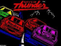 Pantallazo de Days of Thunder para Spectrum
