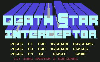 Pantallazo de Death Star Interceptor para Commodore 64