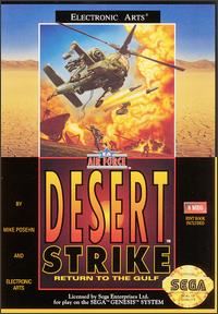 Caratula de Desert Strike: Return to the Gulf para Sega Megadrive