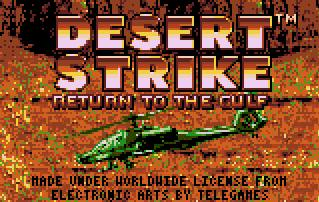 Pantallazo de Desert Strike: Return to the Gulf para Atari Lynx