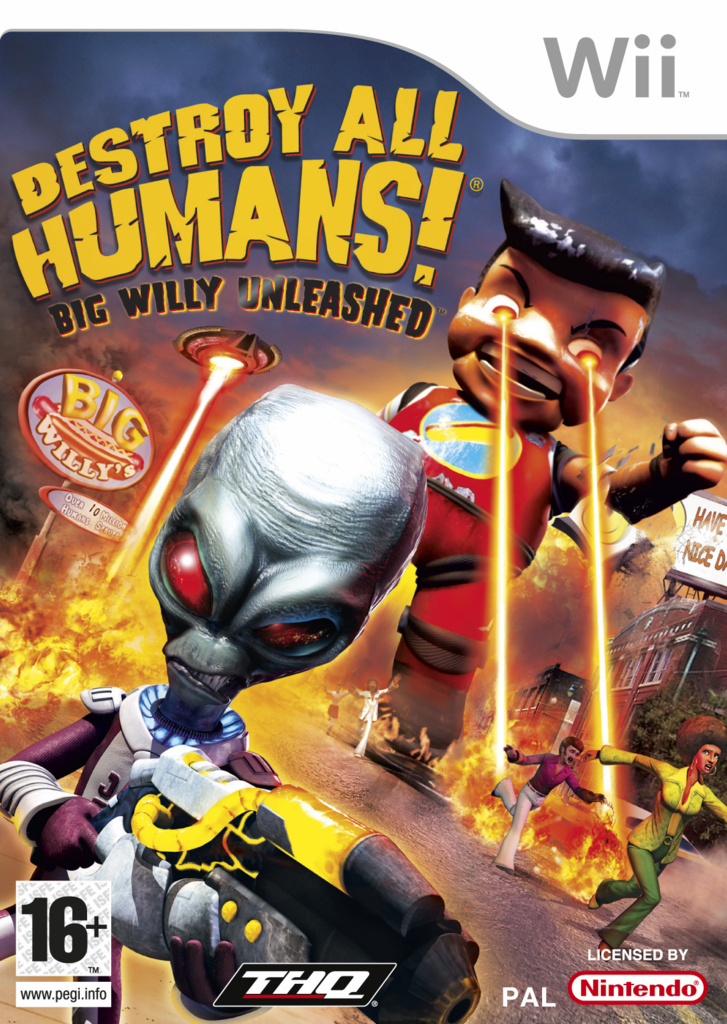 Caratula de Destroy All Humans! Big Willy Unleashed para Wii