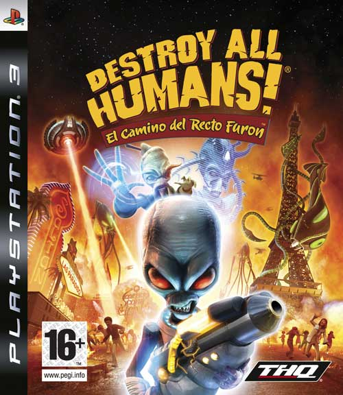 Caratula de Destroy All Humans! El Camino del Recto Furon para PlayStation 3
