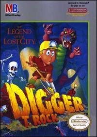 Caratula de Digger T. Rock: The Legend of the Lost City para Nintendo (NES)