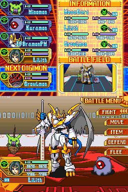 Pantallazo de Digimon World: Dawn para Nintendo DS