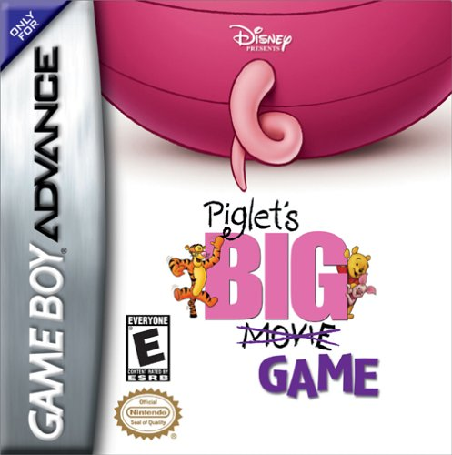 Caratula de Disney Presents Piglet's BIG Game para Game Boy Advance