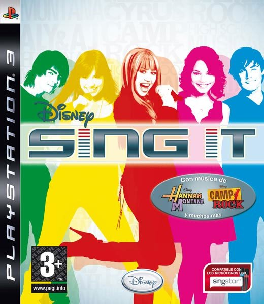 Caratula de Disney Sing it para PlayStation 3
