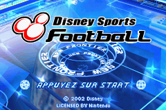 Pantallazo de Disney Sports Football (Fútbol) para Game Boy Advance
