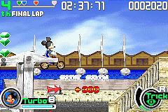 Pantallazo de Disney Sports Motocross para Game Boy Advance