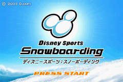 Pantallazo de Disney Sports Snowboarding (Japonés) para Game Boy Advance