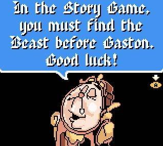 Pantallazo de Disney's Beauty and the Beast: A Board Game Adventure para Game Boy Color