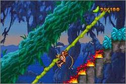 Pantallazo de Disney's Tarzan: Return to the Jungle para Game Boy Advance