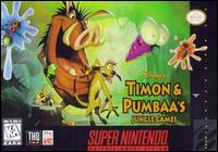 Caratula de Disney's Timon & Pumbaa's Jungle Games para Super Nintendo