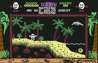 Pantallazo de Dizzy: Treasure Island para Commodore 64