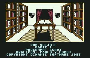 Pantallazo de Don Quijote para Commodore 64