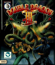 Caratula de Double Dragon 3: The Rosetta Stone para Amiga