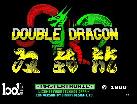 Pantallazo de Double Dragon para Spectrum