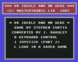 Pantallazo de Dr Jackle and Mr Wide para Commodore 64