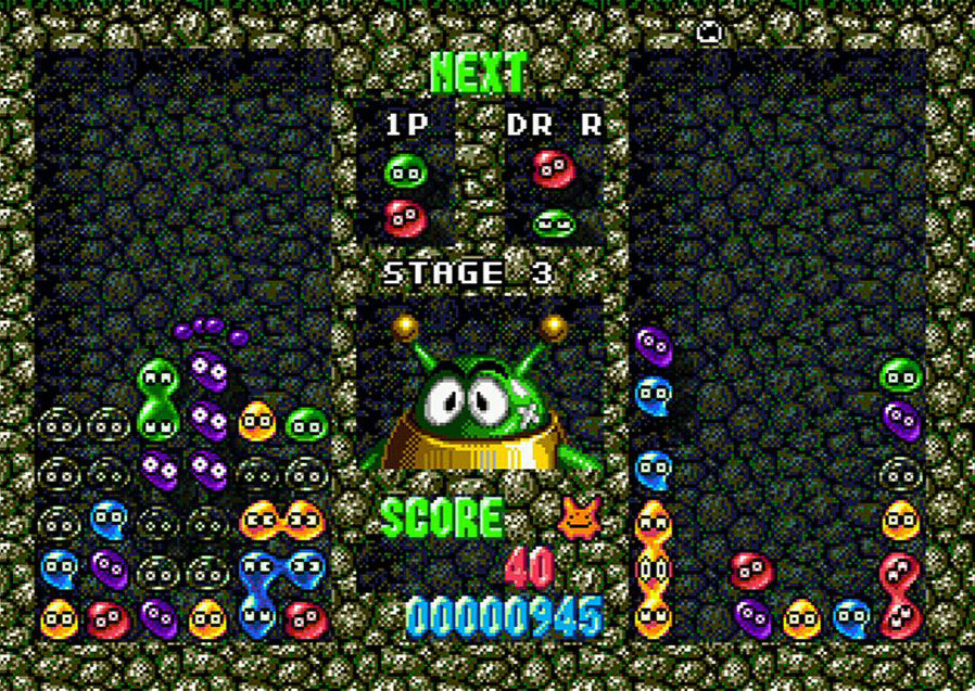 Pantallazo de Dr. Robotnik's Mean Bean Machine (Consola Virtual) para Wii