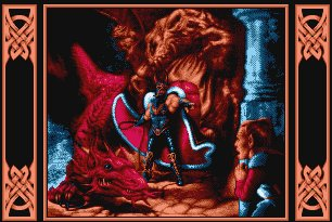 Pantallazo de Dragons Of Flame para Amiga