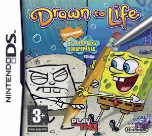 Caratula de Drawn to Life: Spongebob Squarepants Edition para Nintendo DS