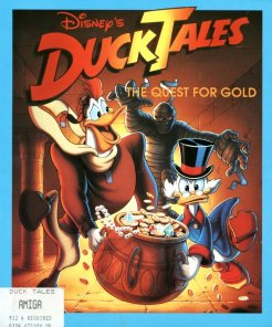 Caratula de Duck Tales: The Quest For Gold para Amiga