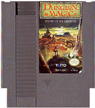 Caratula de Dungeon Magic: Sword of the Elements para Nintendo (NES)