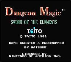Pantallazo de Dungeon Magic: Sword of the Elements para Nintendo (NES)